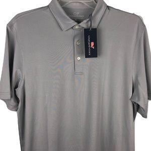 NWT Vineyard Vines Performance Polo Shirt Gray XL
